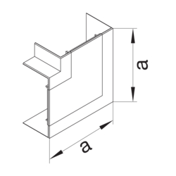 Product Drawing BR65170 Joint de couvercle d'angle plat  PC-ABS