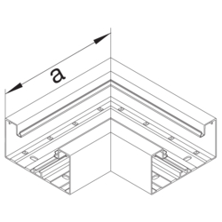 Product Drawing BRA65100 Angle plat aluminium