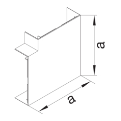 Product Drawing BRA65100 Joint de couvercle d'angle plat  PC-ABS