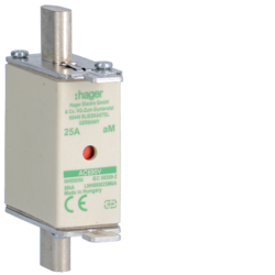 LNH000025M6A Fusible NH000 690V aM 25A indicateur combiné préhenseur sous tension