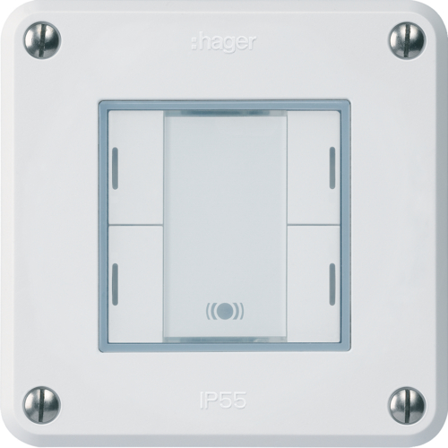 WHTR42400C rob UP KNX 4 touches RGB-LED IR C